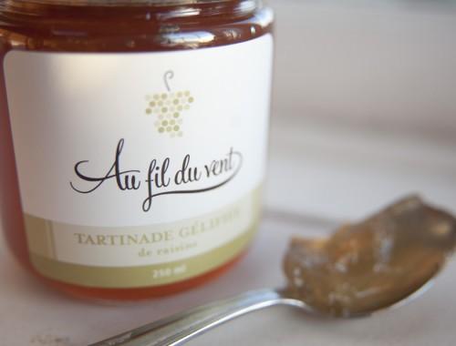 Tartinade gélifiée de raisins blancs